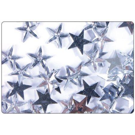 Strass étoiles transparentes 11mm