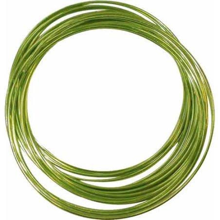 Fil aluminium vert clair - 1,5mm