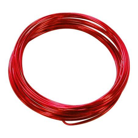Fil aluminium rouge - 1,5mm