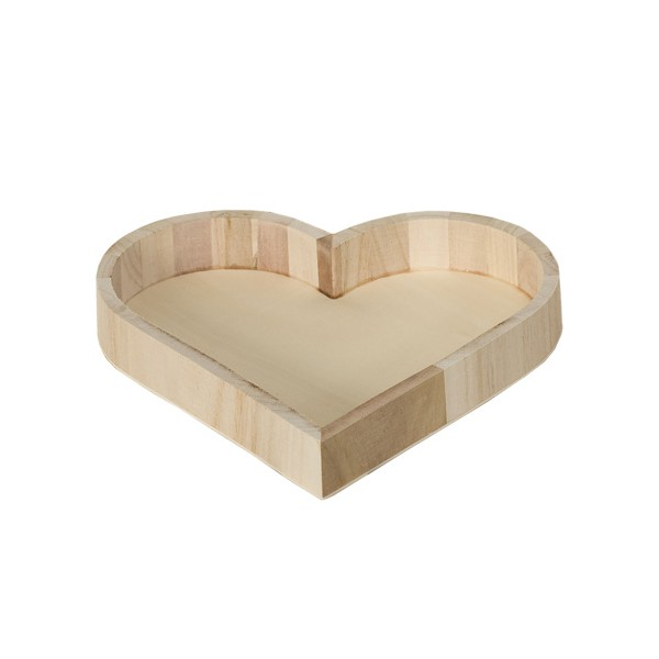 plateau bois coeur 22cm tout creer. Black Bedroom Furniture Sets. Home Design Ideas