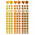 Mosaique stickers camaïeu orange