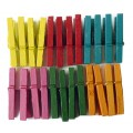 Pinces à linge couleur 25mm x24