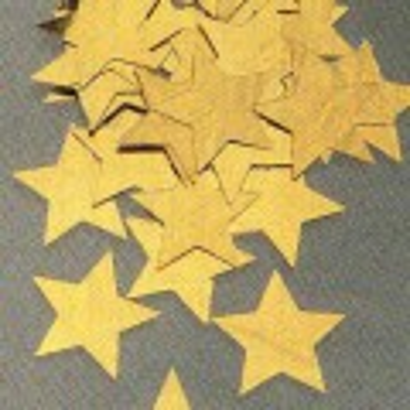 Paillettes grandes étoiles or