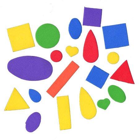 Formes géométriques en mousse - 200 pièces