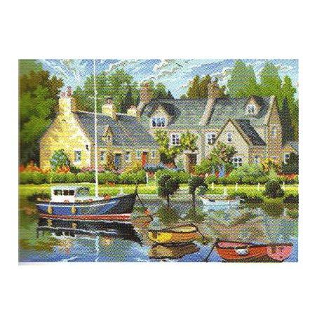 Peinture numéro - Maisons Bretonnes