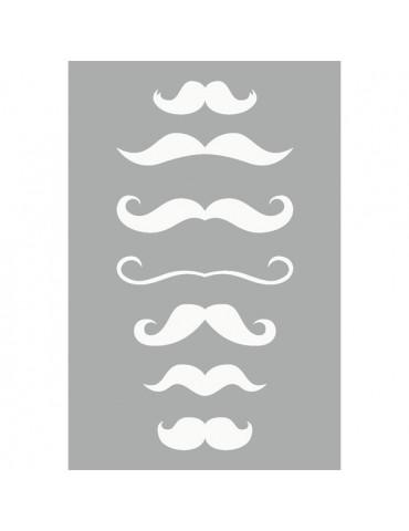 Pochoir Moustaches 10x15 cm