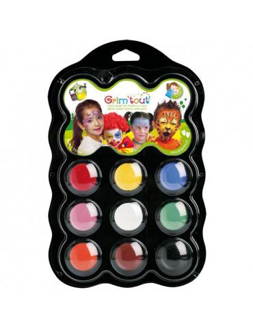 Set maquillage GRIM'TOUT 9 couleurs Carnaval