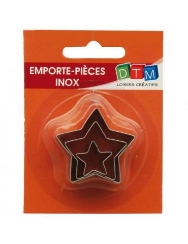 Emporte-pièces métal Etoiles x3