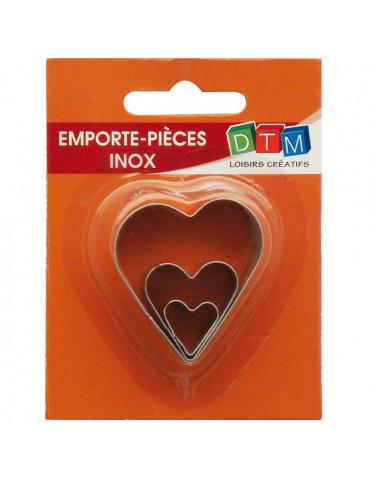 Emporte-pièces métal Coeur x3