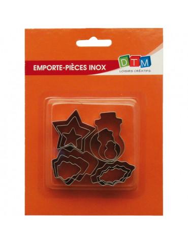Mini emporte-pièces métal NOEL x12
