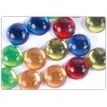 Strass lisses cercles multicolores 20mm