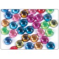 Strass lisses cercles multicolores 12mm