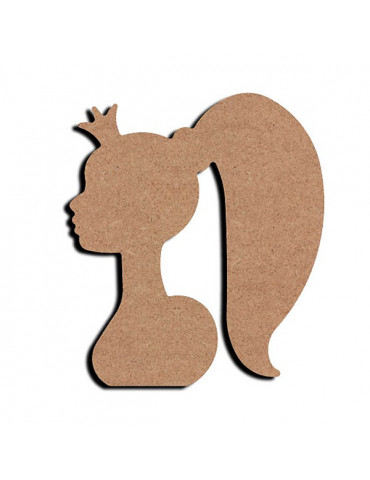 Gomille - Support bois Buste Fée 15cm