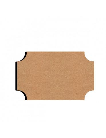 Gomille - Plaque de porte en bois 16x10xm