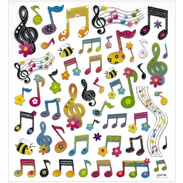 Assez Gommettes Notes musique x51 - Tout à Creer UH53