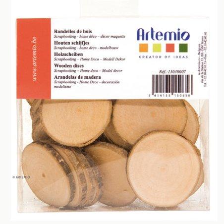 Rondelles de bois 4 à 5 cm