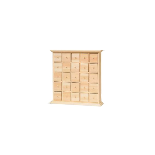 Calendrier avent meuble tiroirs 30cm tout creer - Calendrier avent bois a decorer ...