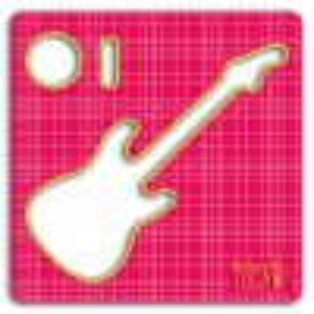 Pochoir tissu - Guitare - Mademoiselle Toga