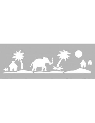 Pochoir décor -  Pochoir frise safari 15x40cm