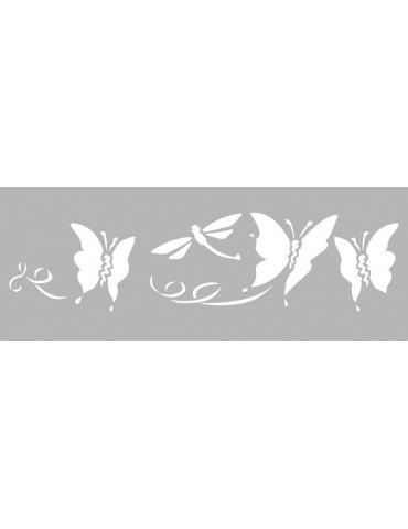 Pochoir décor -  Pochoir frise papillons 15x40cm