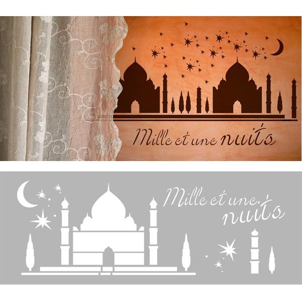 Pochoir d cor mille et une nuit pochoir frise 15x40 cm for Decoration mille et une nuit