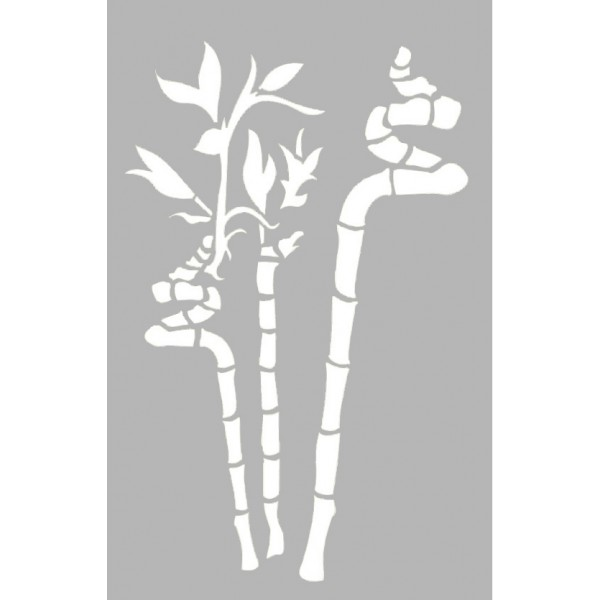Pochoir adh sif bambous 20x29 cm tout creer - Pochoir deco gratuit a imprimer ...