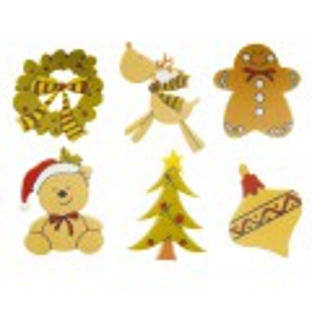 Formes adhésives Ornements de Noël