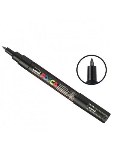 Posca - Marqueur peinture noir PC1MC - pointe conique extra-fine 1mm