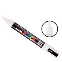 Posca - Marqueur peinture Blanc PC5M - pointe conique moyenne 2,5mm