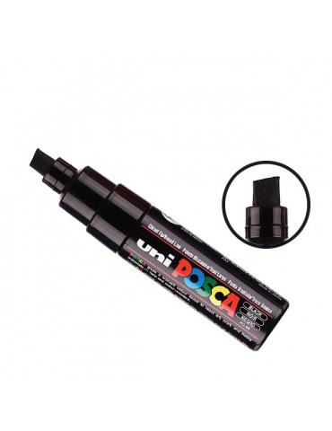 Posca - Marqueur peinture Noir PC8K - pointe large biseautée 8mm