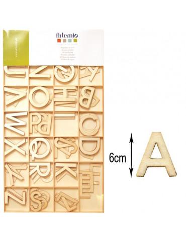 Lettres en bois - Majuscules 6cm - 130 pièces