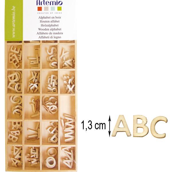 alphabet majuscule 162 lettres en bois 1 3cm artemio. Black Bedroom Furniture Sets. Home Design Ideas