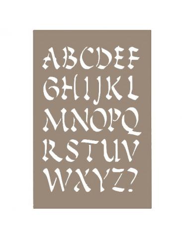 Pochoir Alphabet chinois 10x15cm - Artemio