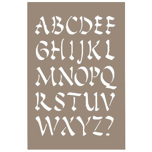 pochoir lettre alphabet chinois 15x20cm artemio. Black Bedroom Furniture Sets. Home Design Ideas