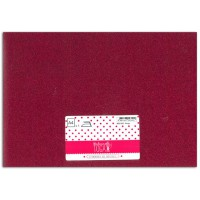 Tissu thermocollant - Glitter rouge - Mlle Toga