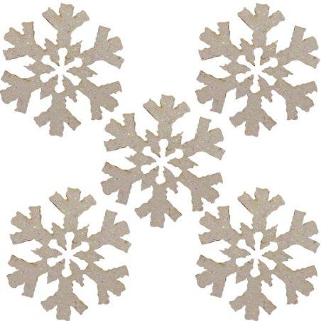 Flocons adhésifs - Paillette blanche x12
