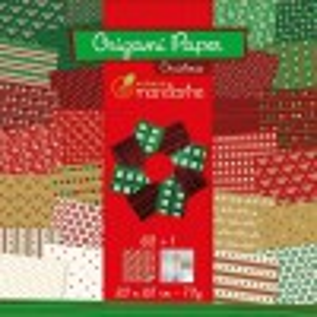 Papier origami Noël 20x20 - Avenue Mandarine