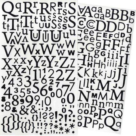 Alphabet autocollant paillettes Noir - 300 pcs