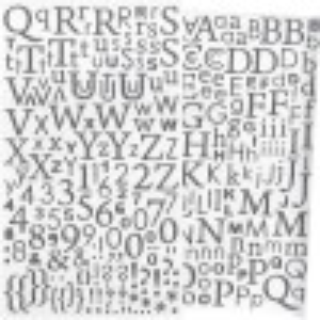 Alphabet autocollant paillettes Argent - 300 pcs