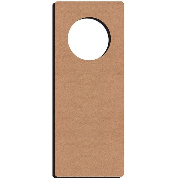 Gomille plaque poign e de porte en bois 28x11 cm for Poignee de porte bois