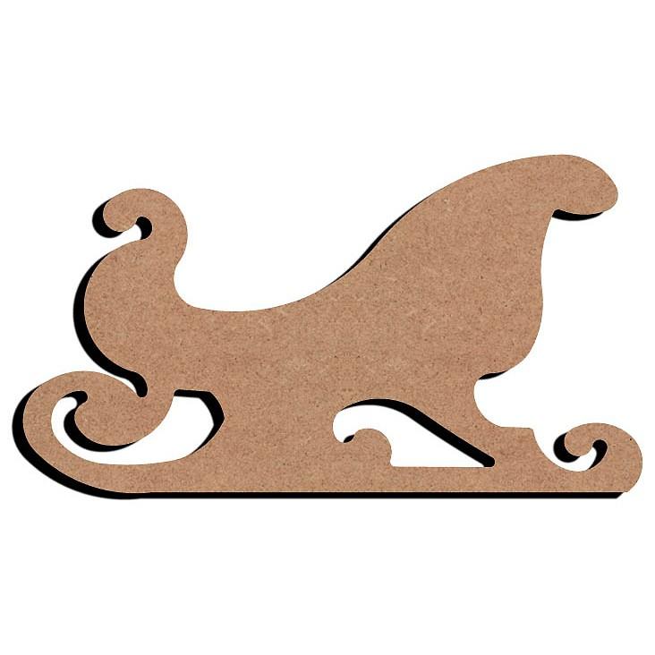 Gomille Traineau bois 15 cm Support boisà décorer # Fabriquer Un Traineau De Noel En Bois