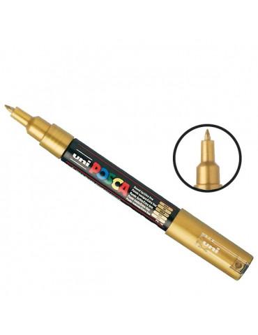 Posca - Marqueur peinture Or PC1MC - pointe conique extra-fine 1mm