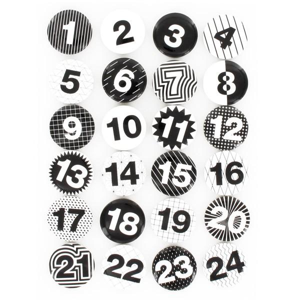 Pin 39 s chiffres calendrier de l 39 avent noir blanc rico design - Chiffres pour calendrier de l avent a imprimer ...