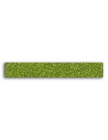 TOGA -  Masking tape Glitter Vert -15mm x 2m