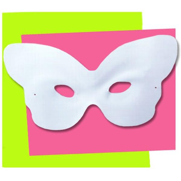 Masque d corer loup papillon dtm fabrication fran aise for Decorer un masque blanc