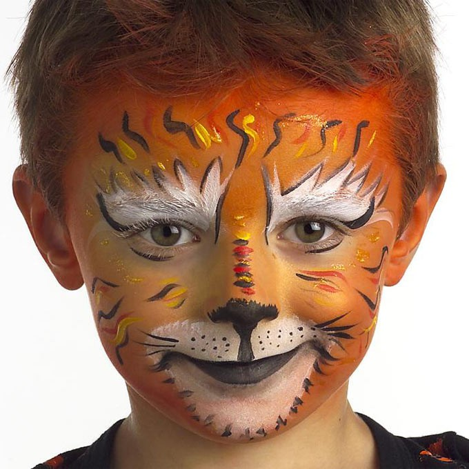 Maquillage enfant tigre tout creer - Maquillage de clown facile ...