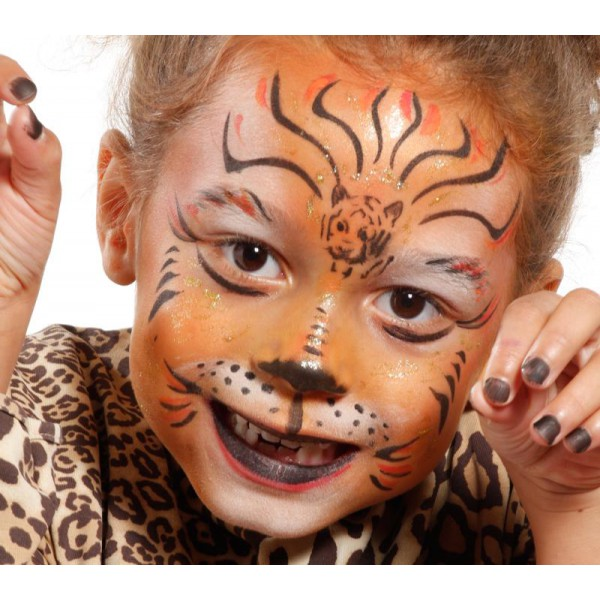 Pochoir de maquillage , Jungle