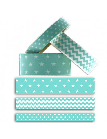 Masking tape - Géométrique Menthe  x3 - Toga