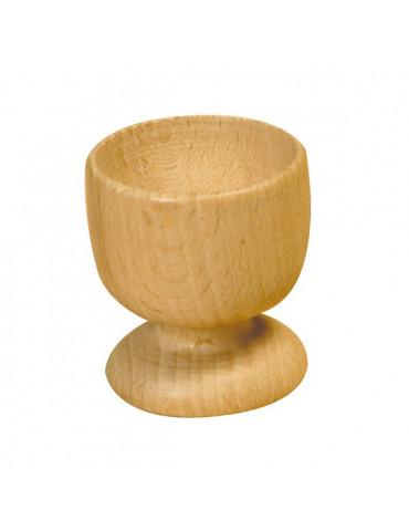 Coquetier moderne bois - 50mm