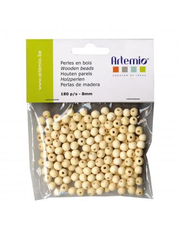 Perles bois 8mm x180